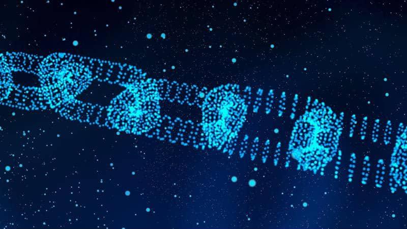 Digital blockchain concept image.
